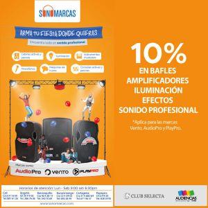 SONOMARCAS - 10% EN PRODUCTOS SELECCIONADOS