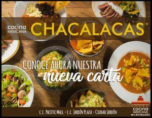 CHACALACAS - 15% EN LA CUENTA