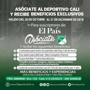 DEPORTIVO CALI - BENEFICIOS EXCLUSIVOS
